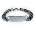 D- Style Travel Personalized ID Bracelet with wide chain.