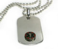 Premium Medical ID Dog Tag with Raised emblem (6 lines engraved)