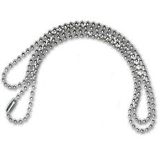Stainless Steel Ball Chain for necklaces and dog tags.