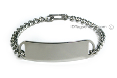 DNR D- Style Stainless Steel ID Bracelet.