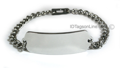 Premium Classic Stainless Steel ID Bracelet (10 lines).