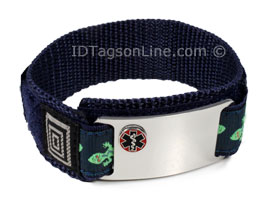 DNR Medical ID Bracelet with Rased Medical Emblem