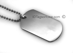 Premium Medical ID Dog Tag (6 lines engraved).