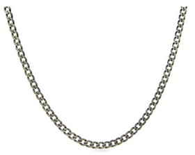 Stainless Steel Endless Curb Chain for necklaces and dog tags.